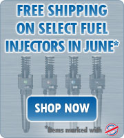 Free shipping on select fuel injectors in June