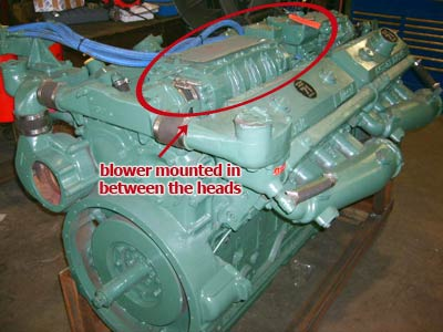 Detroit Diesel V71 engine
