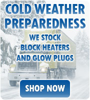 Cold Weather Preparedness: We stock Block Heaters and Glow Plugs.