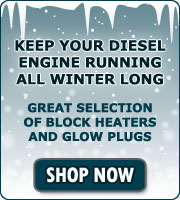 Cold weather preparedness: we stcok block heaters and glow plugs