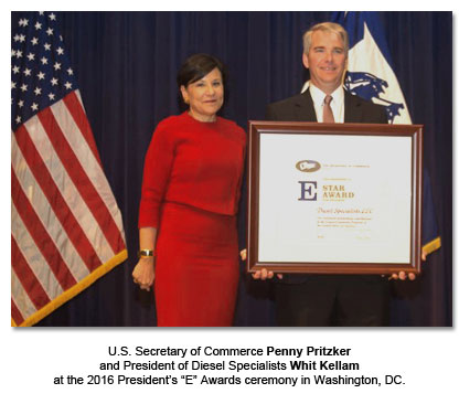 Whit Kellam with Penny Pritzker, U.S. Secretary of Commerce