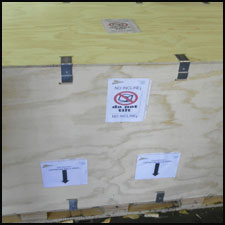 Export approved crate with special markings