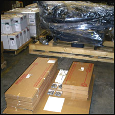 Shipment of genuine Detroit Diesel parts ready to leave for Saudi Arabia