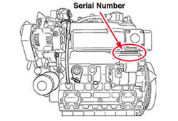 Kubota Engine Serial Number Location | Diesel Parts Direct